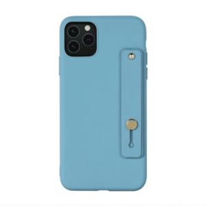 iPhone Silikon Case Hülle mit Strap Blau - Apple iPhone Silikon Case Cover Hülle mit Strap Matte Hüllen