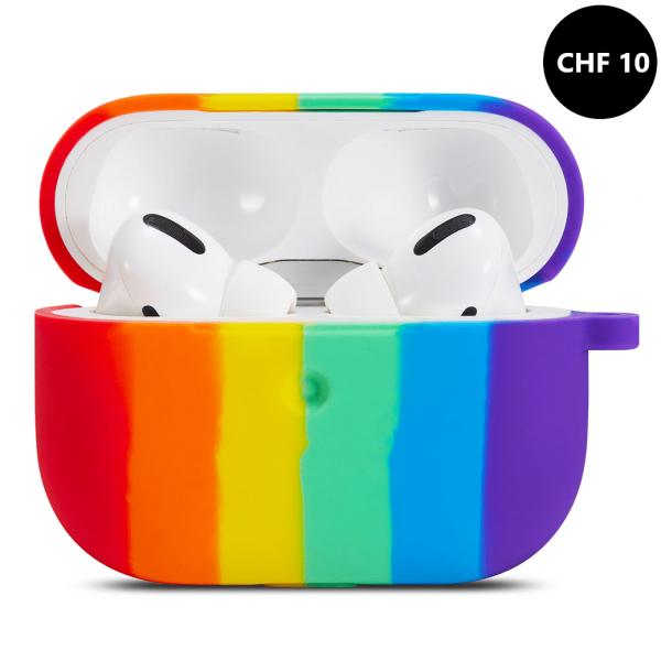 Apple Airpods Rainbow Silikon Schutzhülle